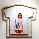 Antoine Liebaert, Untitled / 2012 / Wood, wire, printed t-shirt / 96x102