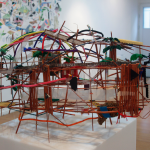 Samuel Trenquier / Bower (tribute to the bowerbirds) / Industrial sticks, lego, toys / 2013 / 90X50cm